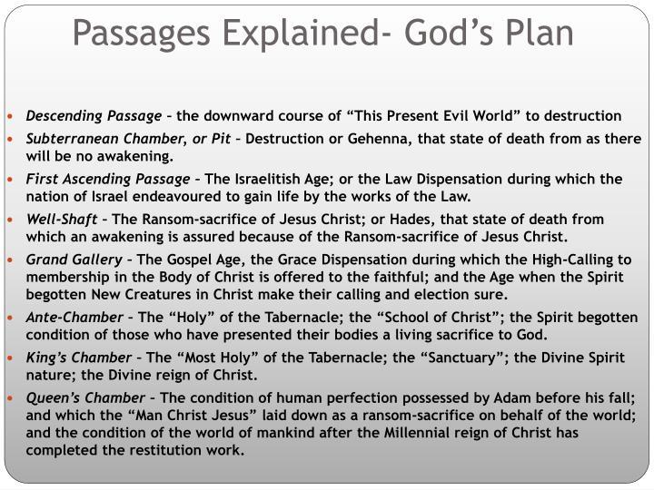 Passages Explained- God's Plan
