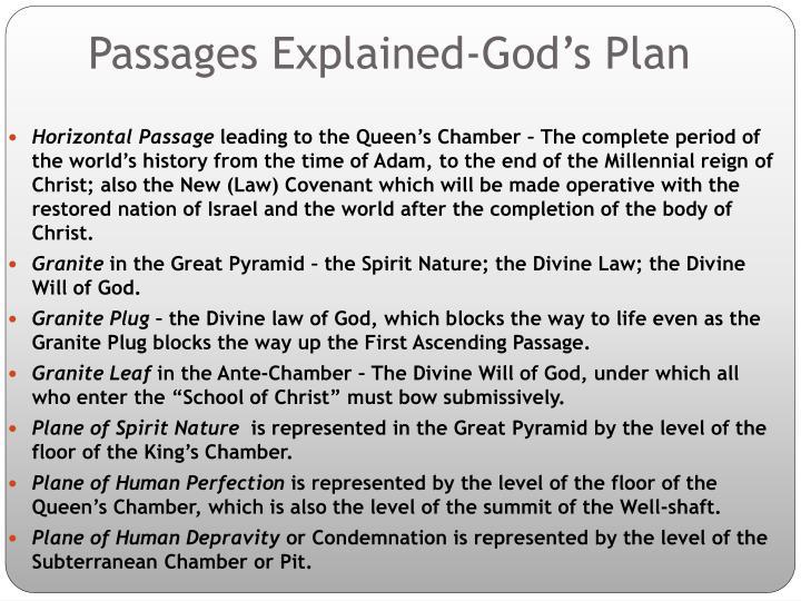 Passages Explained-God's Plan
