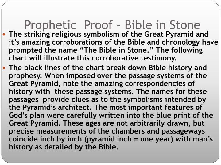 Prophetic  Proof – Bible in Stone