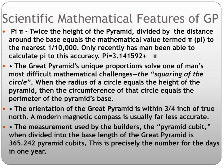 Scientific Mathematical Features of GP