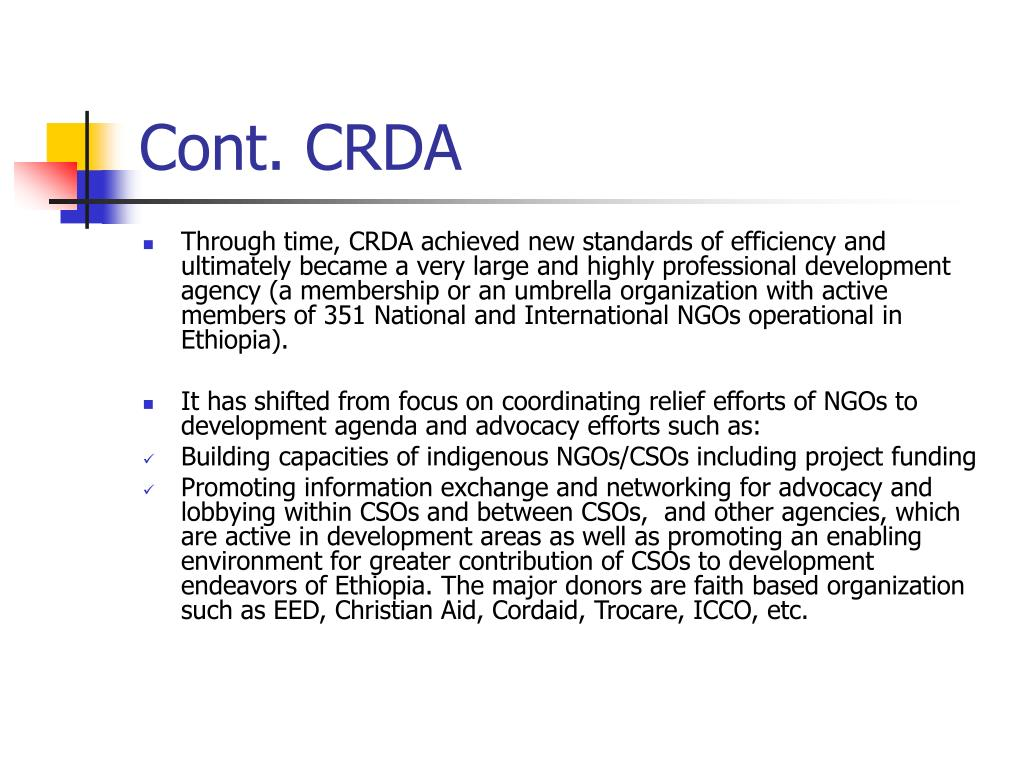 Cont. CRDA