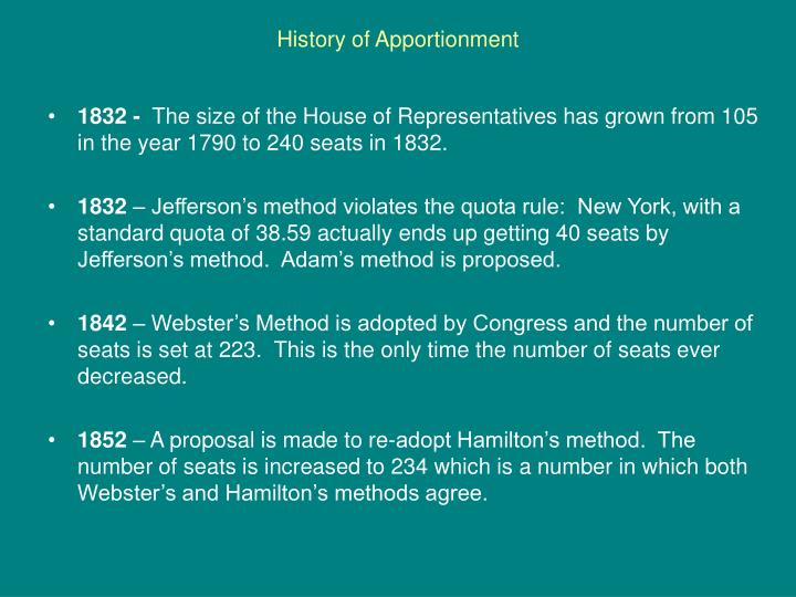 History of apportionment1