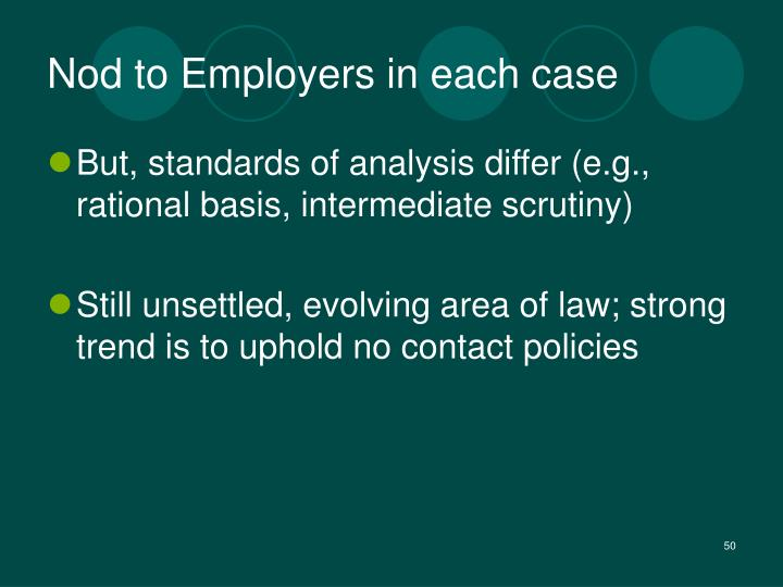 Nod to Employers in each case
