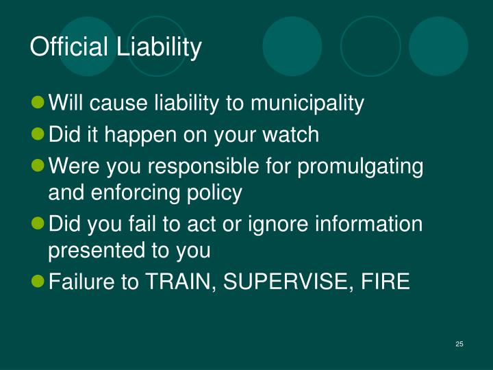 Official Liability