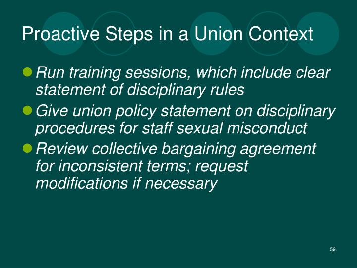 Proactive Steps in a Union Context