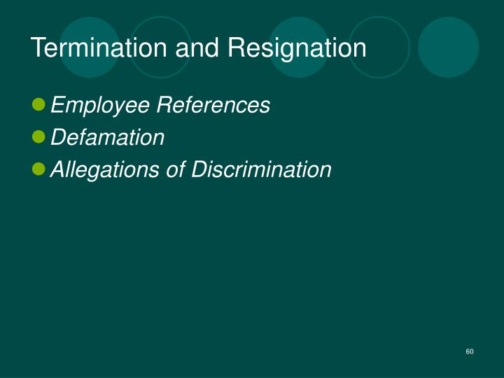 Termination and Resignation