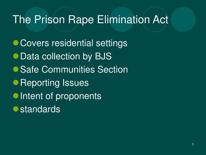 The prison rape elimination act