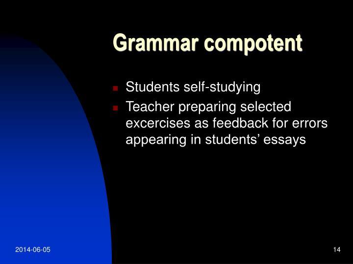 Grammar compotent