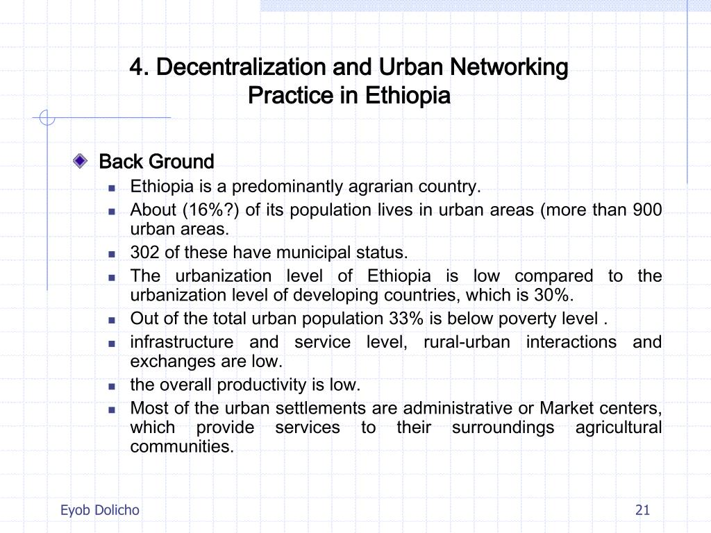 4. Decentralization and Urban Networking