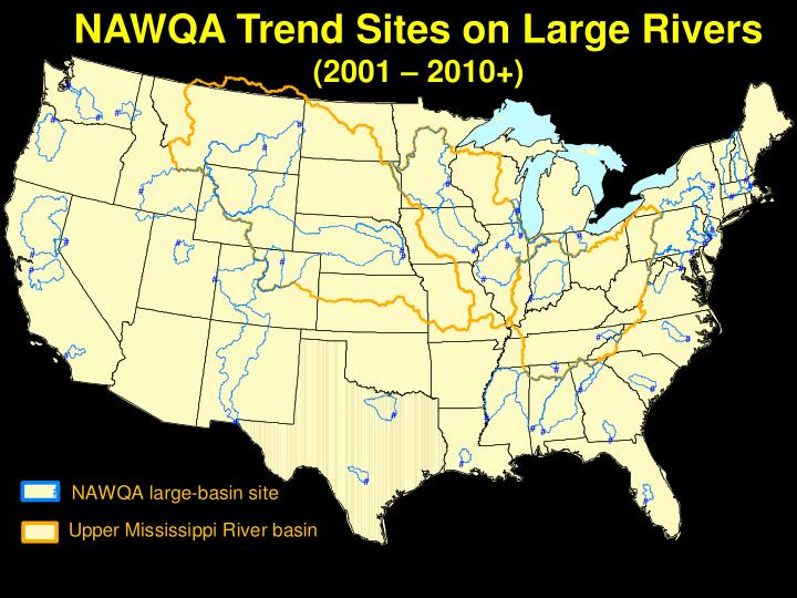 NAWQA Trend Sites on Large Rivers