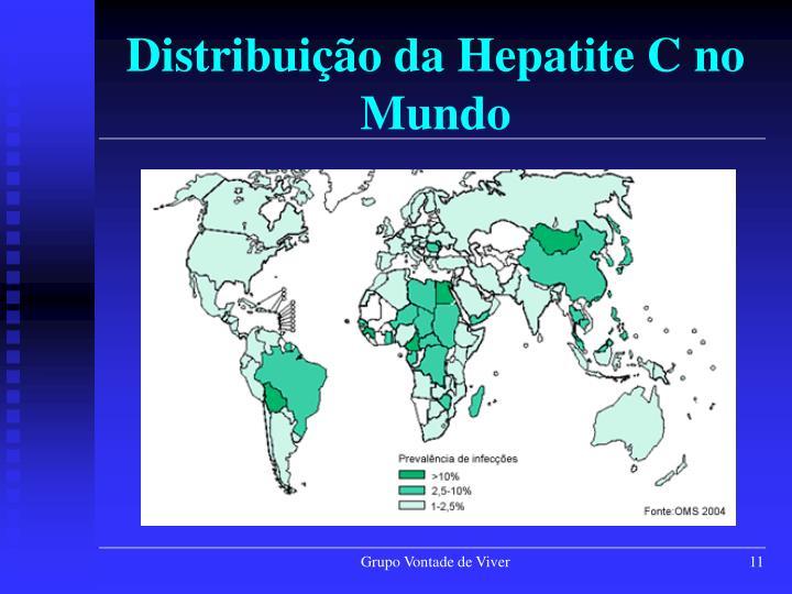 Distribuição da Hepatite C no Mundo