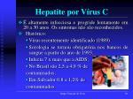 hepatite por v rus c