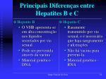 principais diferen as entre hepatites b e c