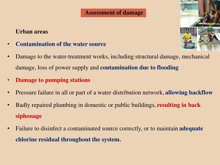 Assessment of damage