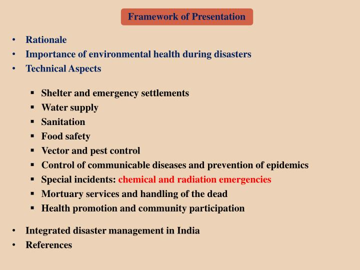 Framework of Presentation
