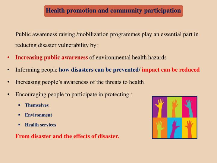 Health promotion and community participation