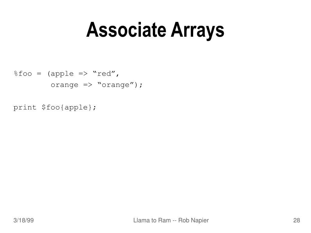 Associate Arrays