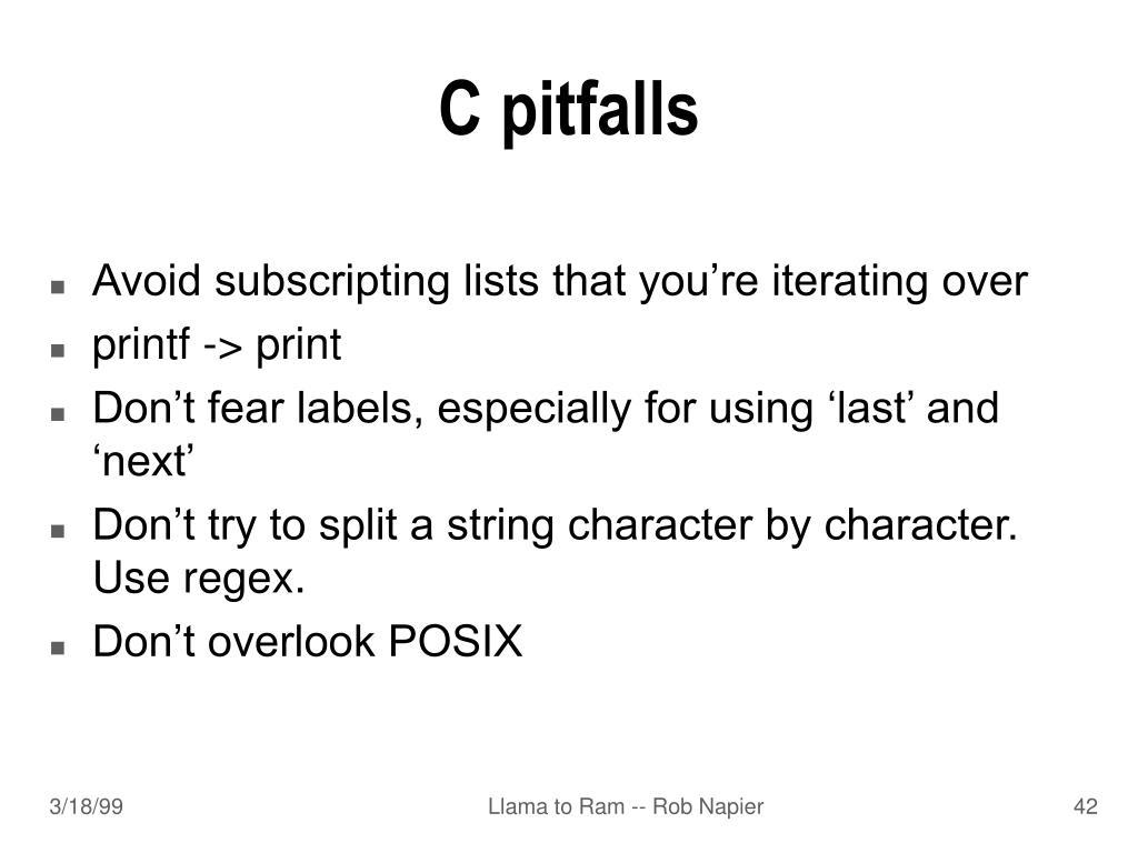 C pitfalls