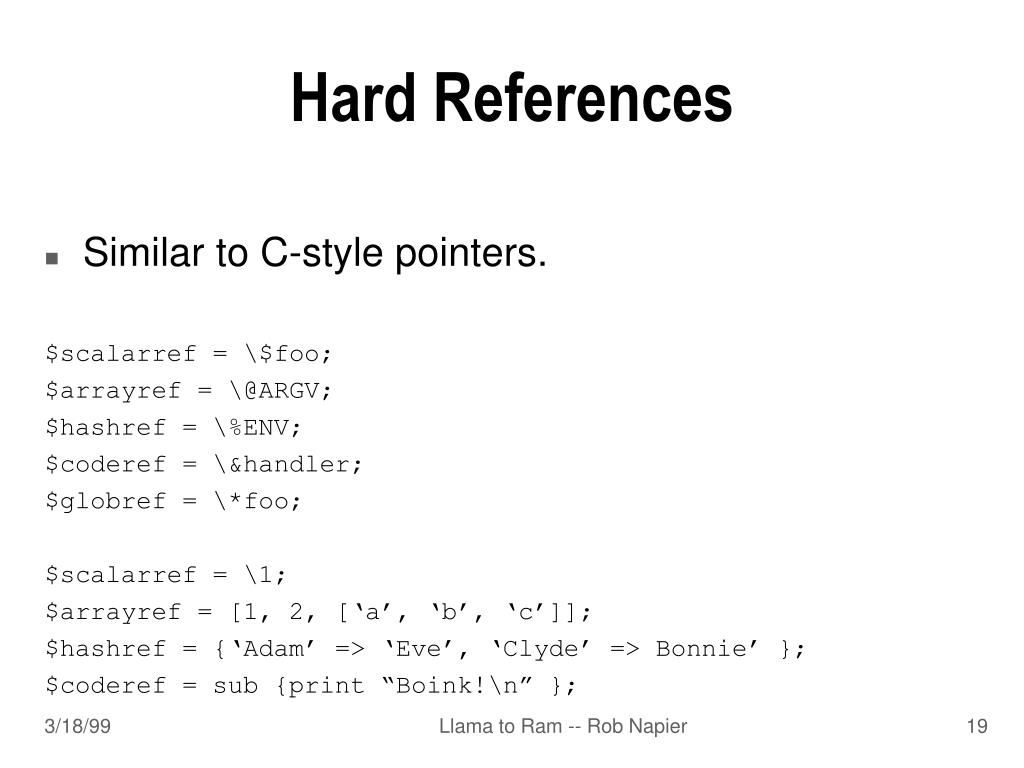 Hard References