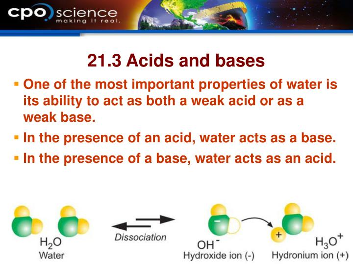21.3 Acids and bases
