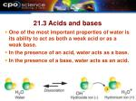 21 3 acids and bases