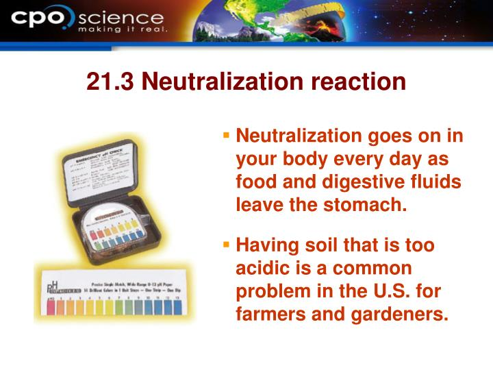 21.3 Neutralization reaction