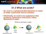 21 3 what are acids
