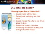 21 3 what are bases