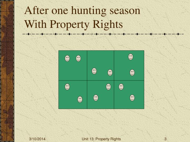 After one hunting season with property rights