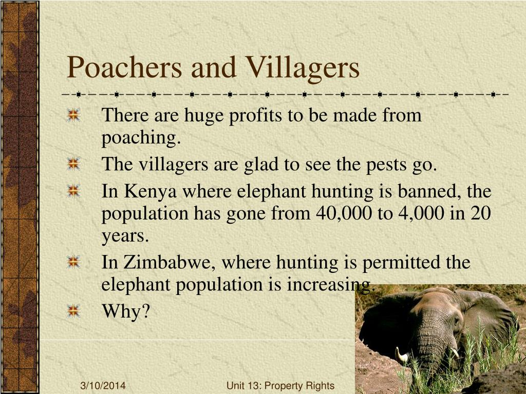 Poachers and Villagers