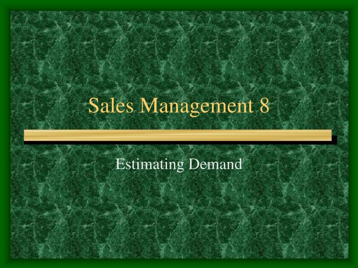 sales management 8