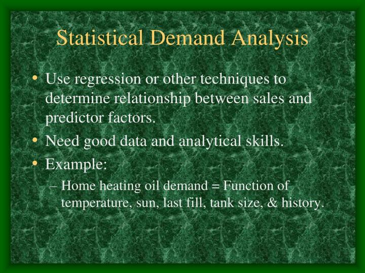 Statistical Demand Analysis