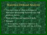 statistical demand analysis