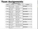 team assignments