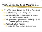 test upgrade test upgrade