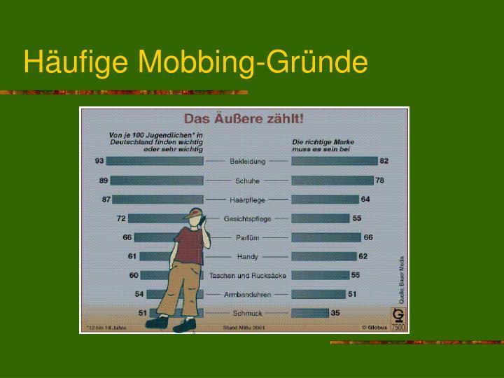 Häufige Mobbing-Gründe