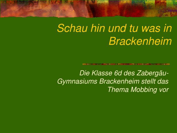Schau hin und tu was in Brackenheim