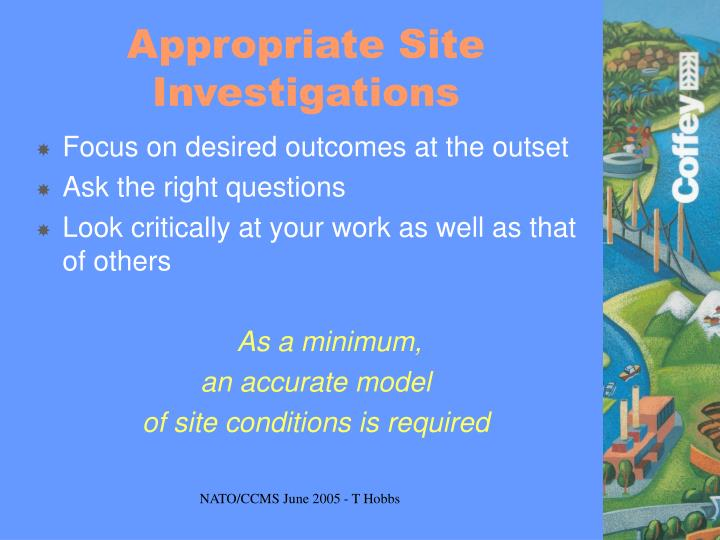 Appropriate Site Investigations
