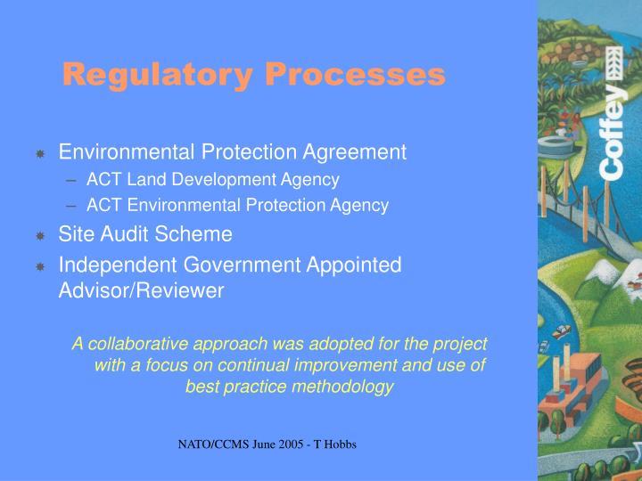 Regulatory Processes