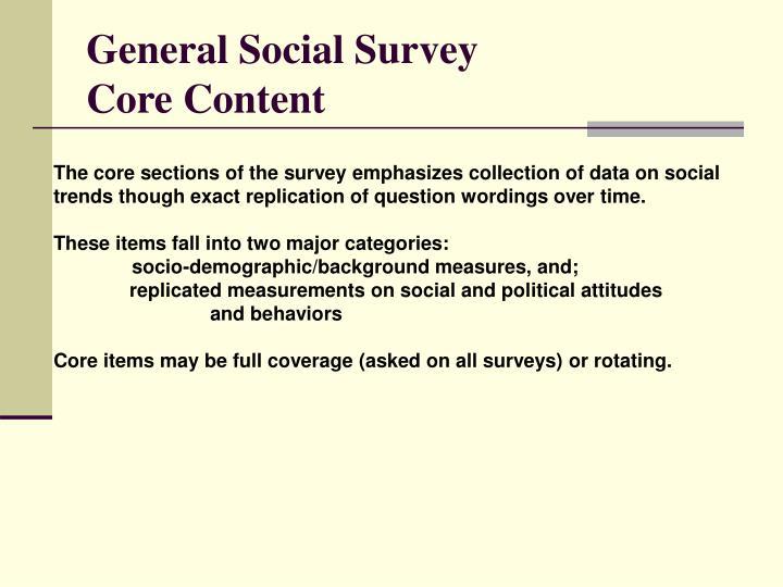General Social Survey