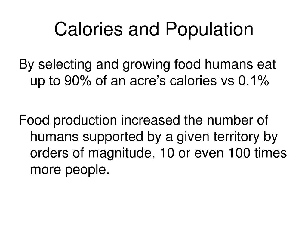 Calories and Population