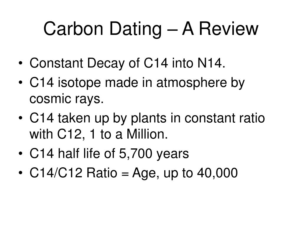 Carbon Dating – A Review