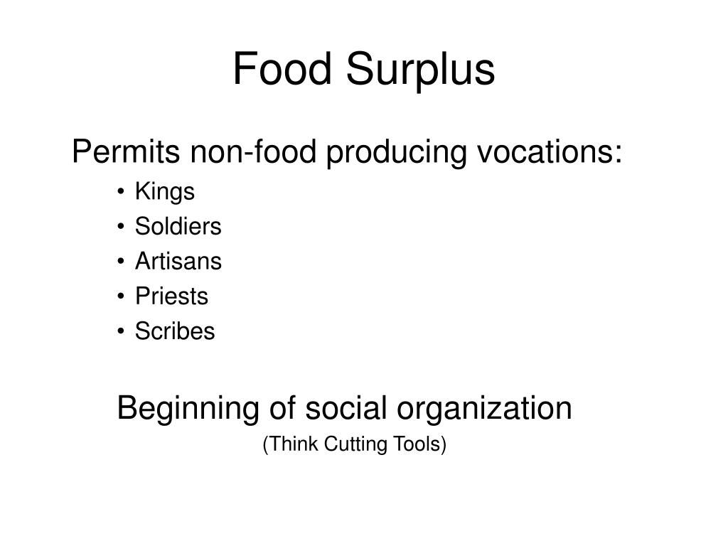Food Surplus