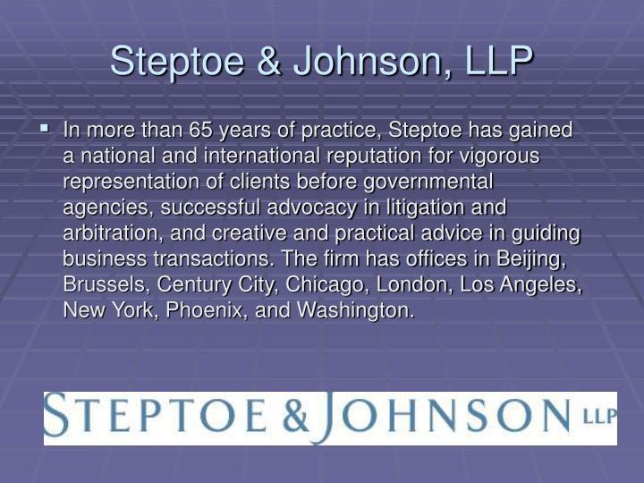 Steptoe & Johnson, LLP