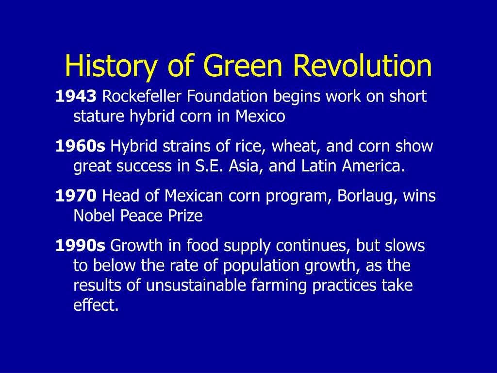 History of Green Revolution