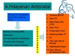 a pelayanan antenatal