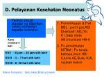 d pelayanan kesehatan neonatus