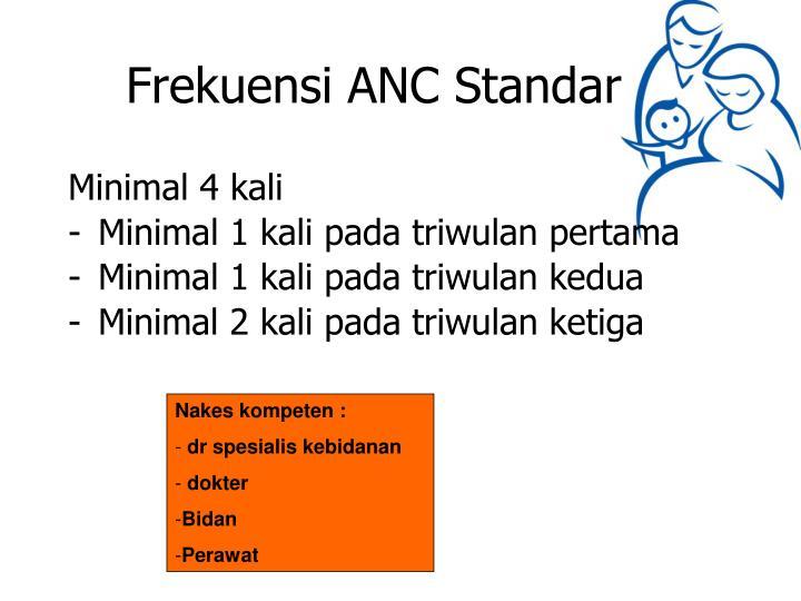Frekuensi ANC Standar