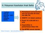 h pelayanan kesehatan anak balita