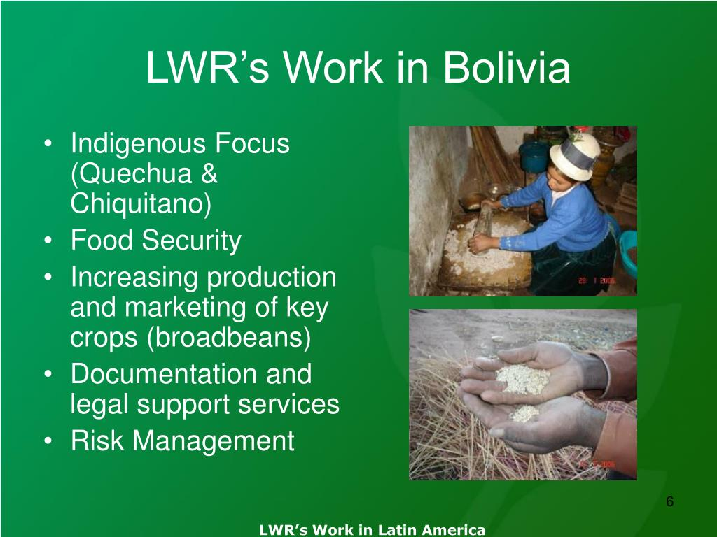 LWR's Work in Bolivia